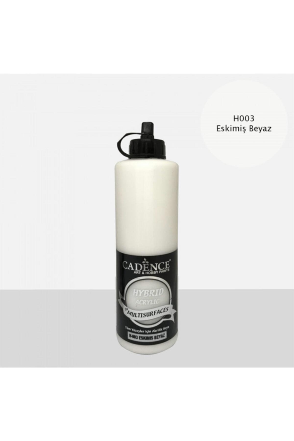 Cadence Eskimiş Beyaz Hybrid Multisurface Akrilik Boya 500 ml 1