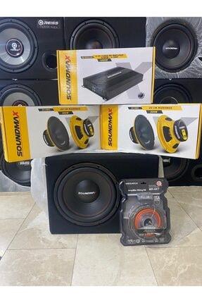 Soundmax Paket 30cm Bass 20cm Iki Takım Midrange Anfi Plc Kablo Seti