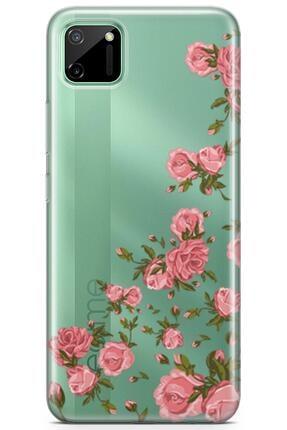 Melefoni Realme C11 Uyumlu Flora Serisi Uv Baskılı Silikon Kılıf