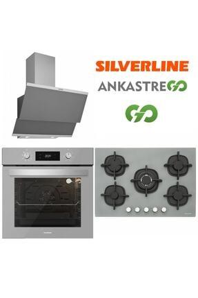 Silverline Gri Cam Ankastre Set Bo6504s01 - Cs5364s01 - 3420 S