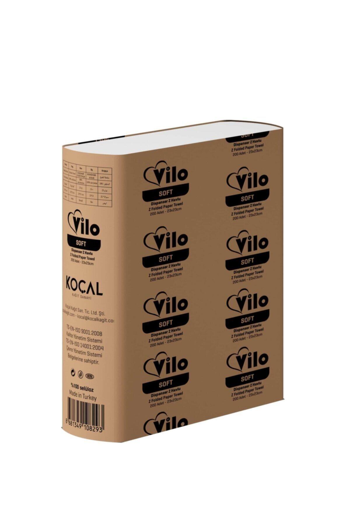 KOÇAL KAĞIT Vilo Soft Dispenser Z Katlama El Havlusu 200'lüx6 Paket ( 1200 Adet ) 1