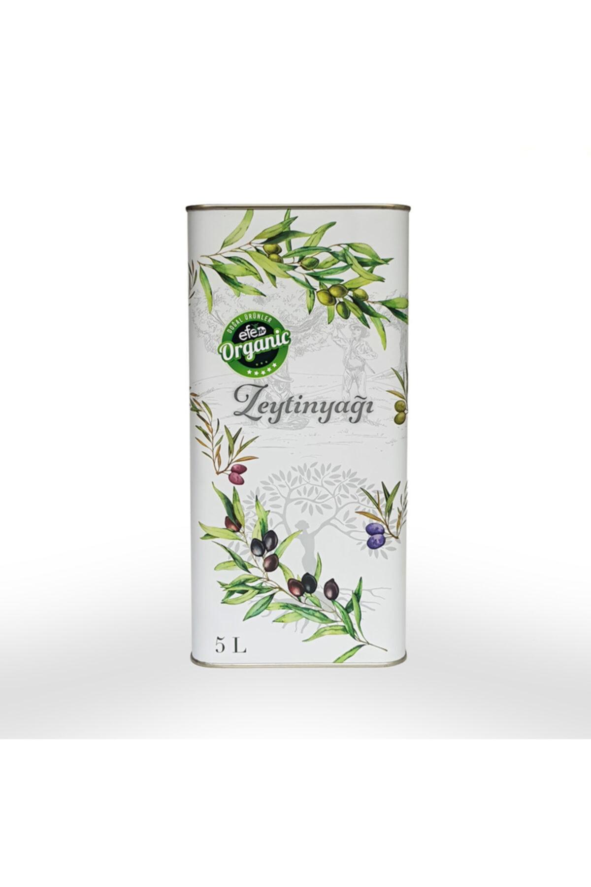 Efe Organik Efe Doğal Soğuk Sıkım Sızma Zeytin Yağı 5 Litre Teneke 1
