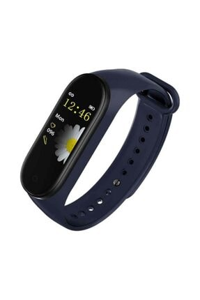 Teknobia Aksesuar Teknobia Bluetoothlu Akıllı Saat Özellikli Akıllı Bileklik Band M4 Renkli Ekran Mavi