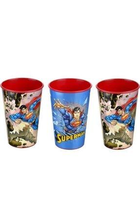 Sadık Plastik SP Unisex Çocuk Kırmızı Süperman Baskılı Bardak 3 Adet