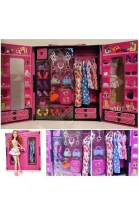 ELAADA Beauty Barbie Bebek Elbise Gardroplu Aksesuarlı Oyun Seti