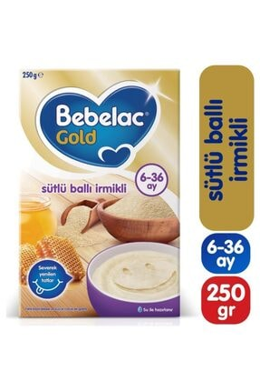 Bebelac Gold Sütlü Ballı Irmikli 250 gr Ek Gıda