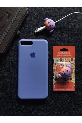 SUPPO Iphone 7 8 Plus Uyumlu Logolu Lansman Kılıf ve Kablo Koruyucu