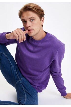 DeFacto Bisiklet Yaka Regular Fit Basic Sweatshirt