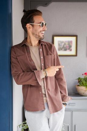 DeFacto Uzun Kollu Regular Fit Pamuklu Gömlek Ceket
