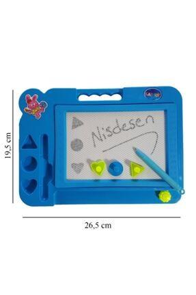 Kartoy Manyetik Tablet Mıknatıslı Yazı Tahtası Mavi