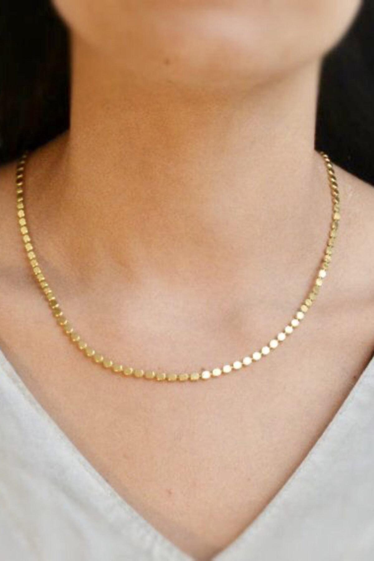 Collection by Duygu Şahin Yassı Top Zincir Gold Kolye 1