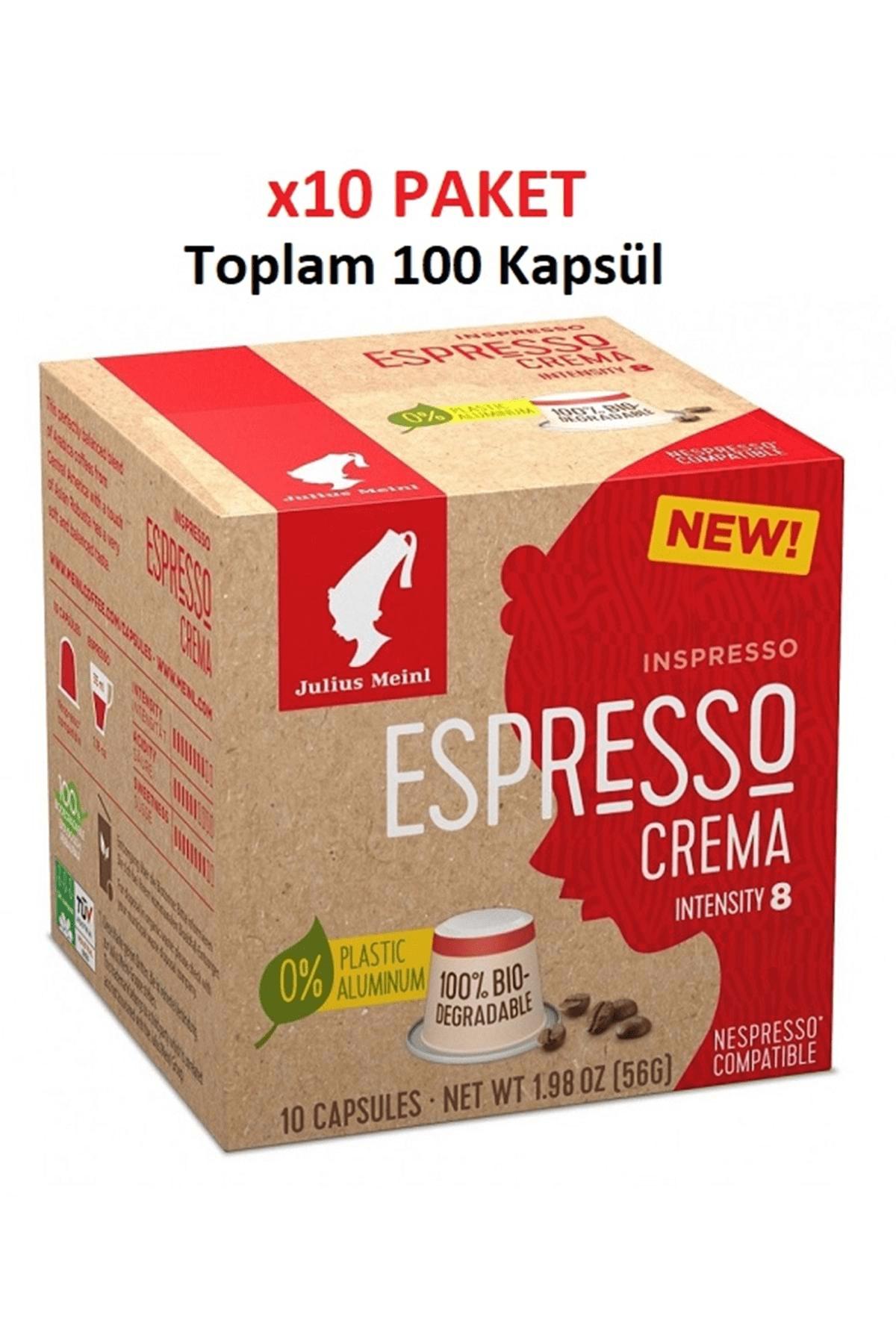 Julius Meinl Espresso Crema Nespresso Uyumlu Kapsül Kahve 100 adet