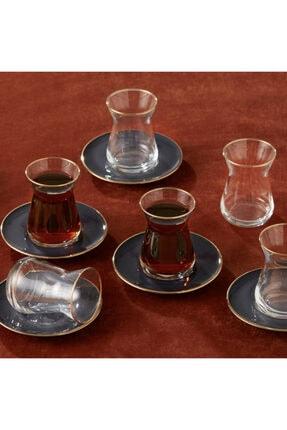 Karaca Antrasit 6 Kişilik Çay Seti