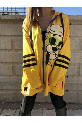 serenity butik Kadın Sarı Yağmurluk