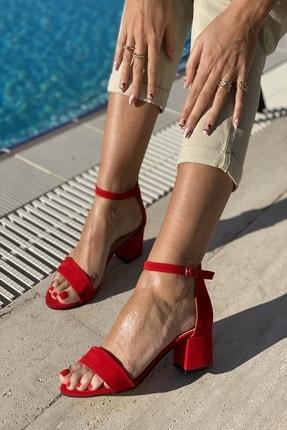 İnan Ayakkabı Tek Bant Bilekli Topuklu Ayakkabı