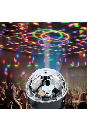 LUX Hoparlör Disco Sahne Ensiga Disko Topu Bluetooth Usb Led Işıklı Mp3