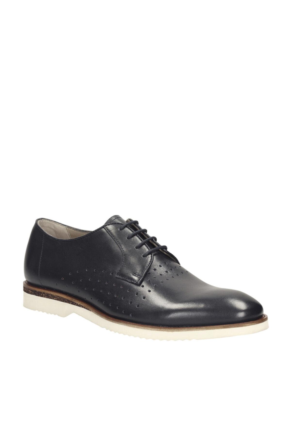 CLARKS Hakiki Deri Lacivert Erkek Ayakkabı 261142717 1