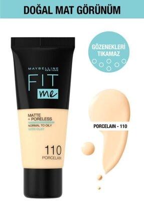 Maybelline New York Fit Me Matte+poreless Fondöten - 110 Porcelain