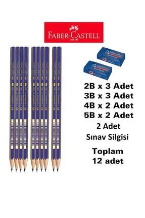 Faber Castell Dereceli Kalem Seti 10 Adet Faber Sınav Silgisi 2 Adet (2b 3 Adet 3b 3 Adet 4b 2 Adet 5b 2adet)