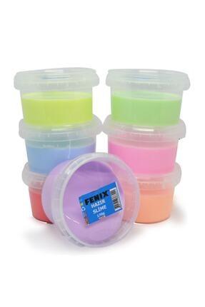 Fenix Yuvarlak Kutuda 6 Renk Hazır Slime - Hazır Slaym - 6x170gr Toplam 1020gr.hsx