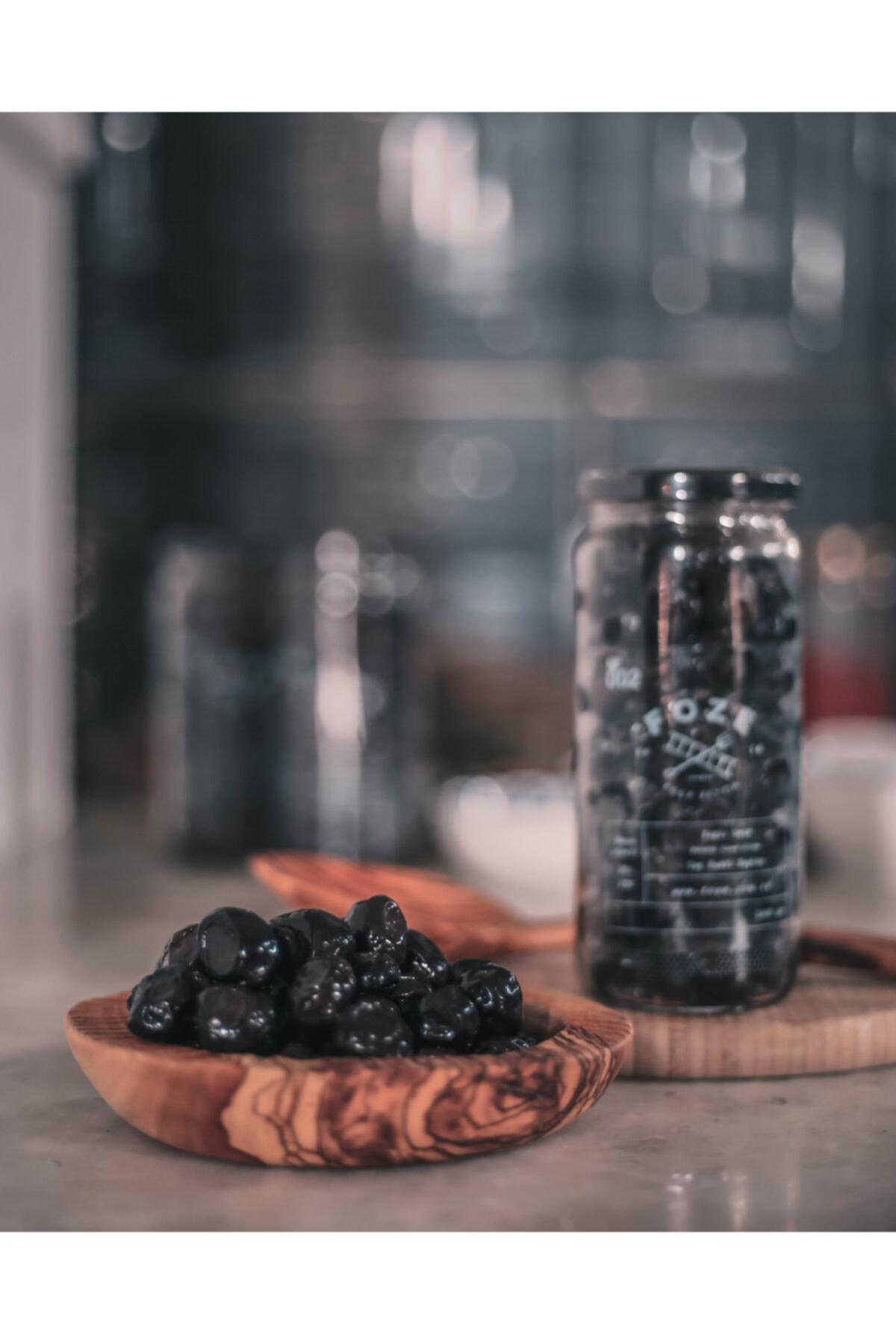 Foze Taş Baskı Doğal Yağlı Sele Siyah Salamura Zeytin 300 gr 1