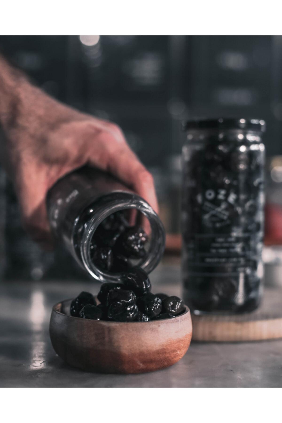 Foze Taş Baskı Doğal Yağlı Sele Siyah Salamura Zeytin 300 gr 2