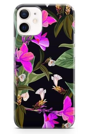 Melefoni Apple Iphone 12 Mini Için Flower Serisi Uv Baskılı Silikon Kılıf