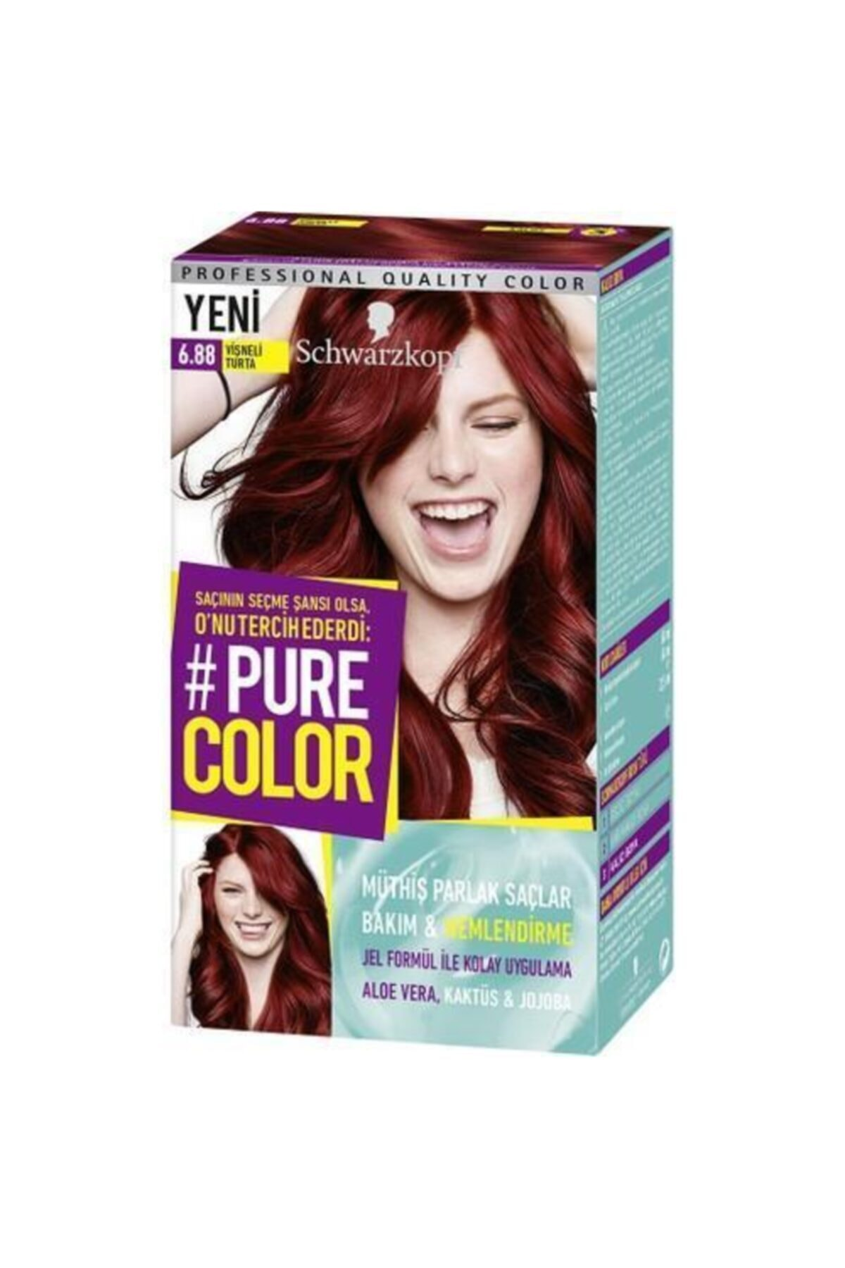 PURE COLOR 6.88 Vişneli Turta Saç Boyası 1