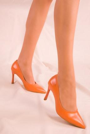 SOHO Turuncu Kadın Klasik Topuklu Ayakkabı 15807