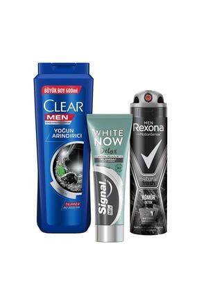 Clear + Rexona + Signal Detox Kömür
