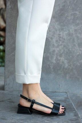 Mio Gusto Cindy Siyah Kısa Topuklu Sandalet