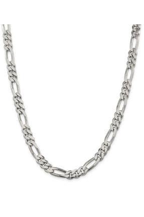925Silver Erkek Encili Silver 925 Ayar Gümüş Figaro Zincir Kolye