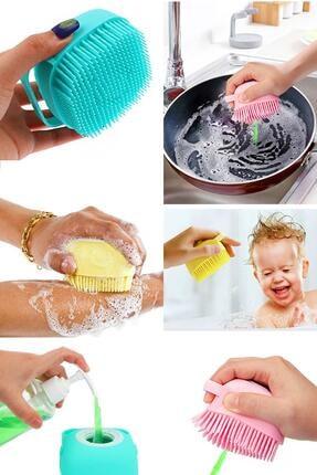Helen's Home Vücut Temizleme Kesesi Duş Jeli Hazneli Fırça Banyo Lifi