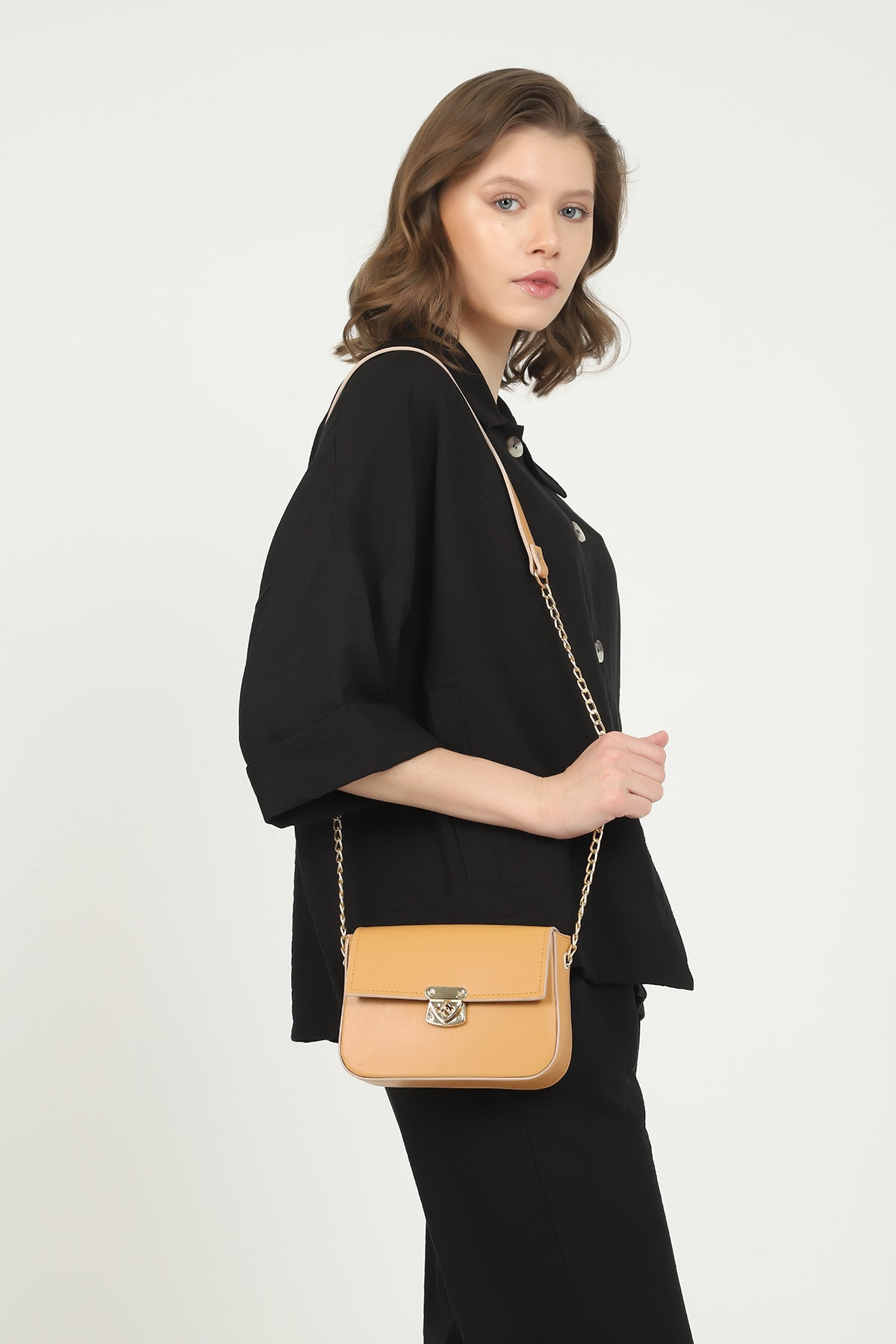 QOOL WOMEN Kadın Çanta Mini Baget 2