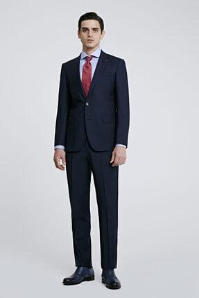 D'S Damat Erkek Lacivert Düz Travel Takım Elbise