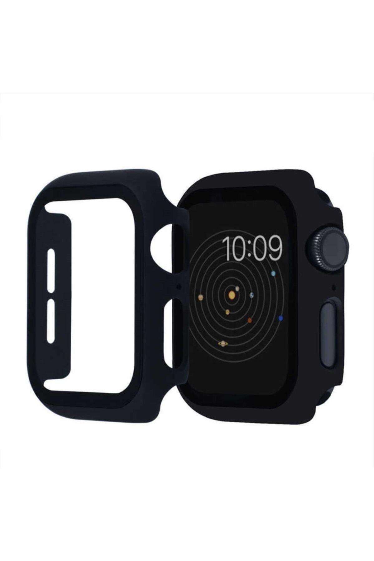 KVK PRİVACY Apple Watch Uyumlu Siyah Silikon Kılıf 42mm Tam Koruma  1 2 3 4 5 6 Se 1