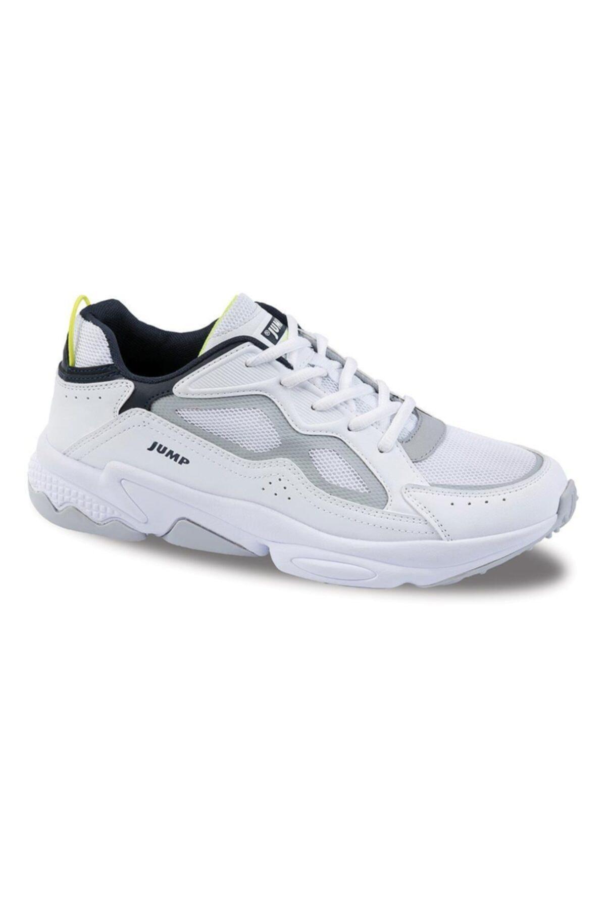 Jump Unisex Beyaz Günlük Casual Confort Spor Ayakkabısı  24712 1