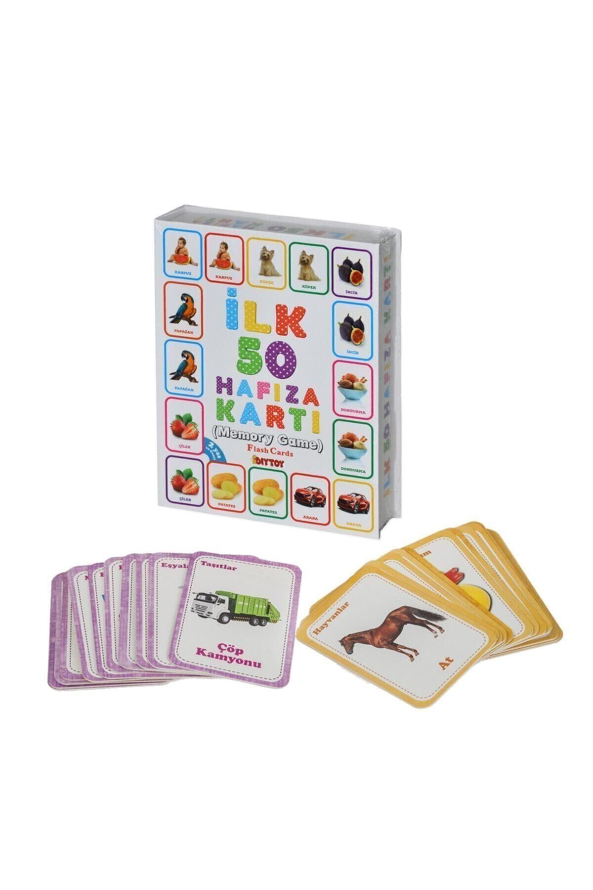 DIYTOY Bebeğimin Ilk Zeka Kartları Ve Diy-toy Flash Cards Ilk 50 Sözcük 2' Li Set 2