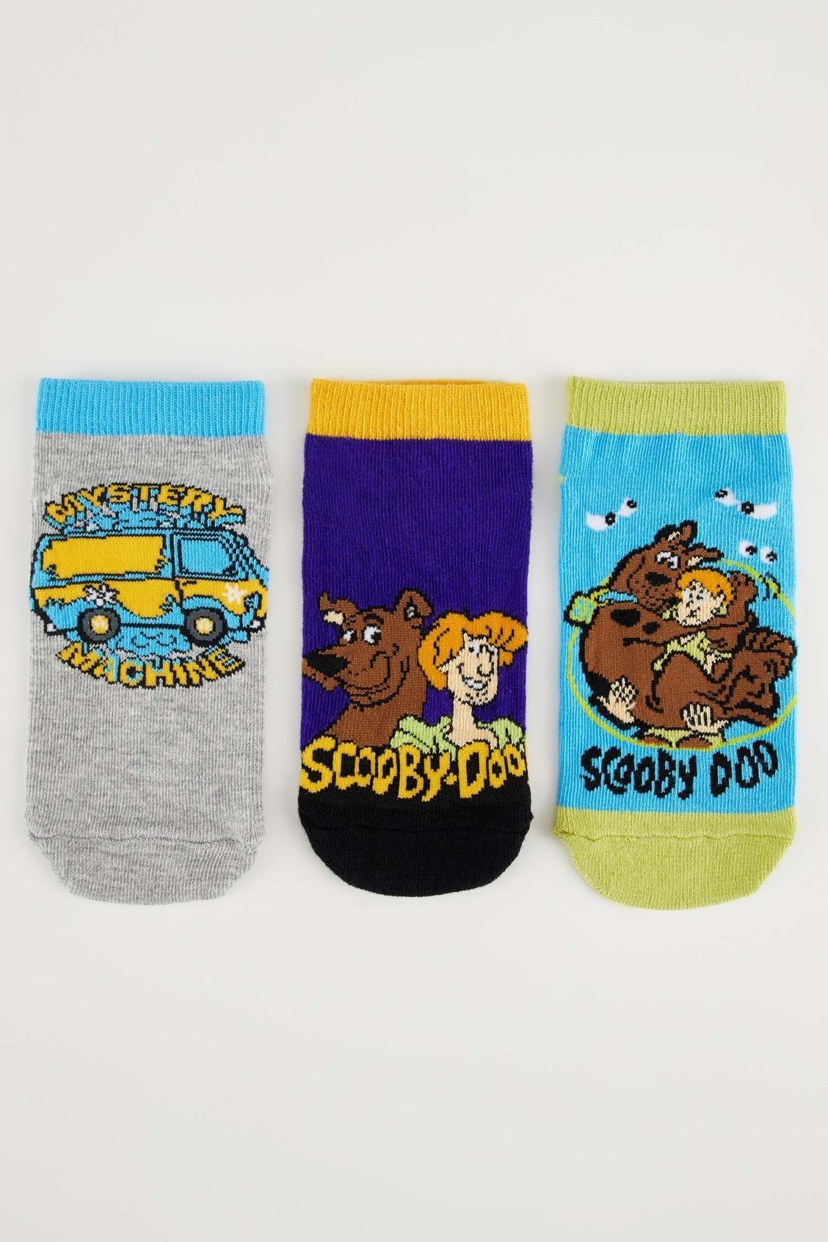 DeFacto Erkek Çocuk Scooby Doo Lisanslı 3'lü Patik Çorap