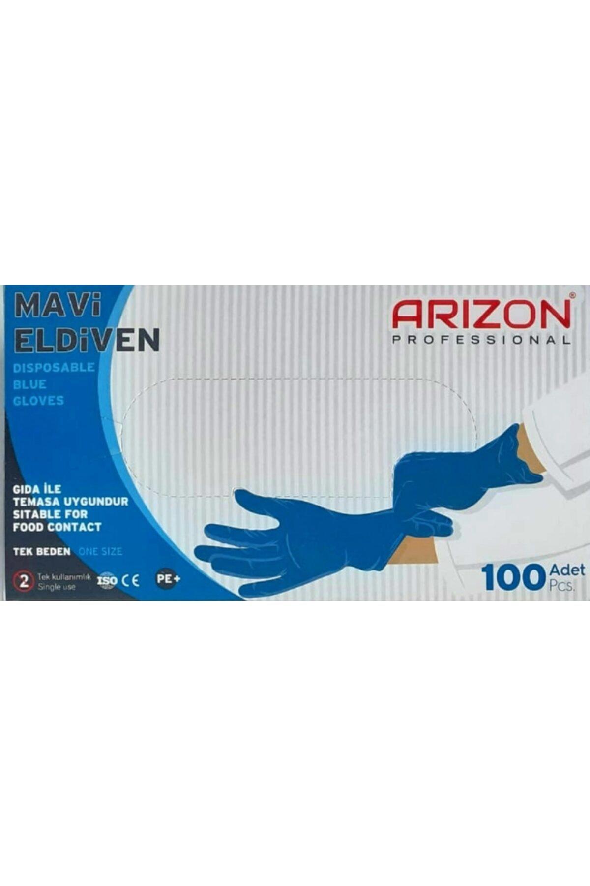 Arizon Bidünyapazar Mavi Renkli Çok Amaçlı, Kullan-at Eldiven Tek Kullanımlık 1