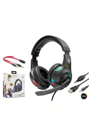zore Games Heatsed Oyuncu Kulaklık Mikrofonlu Yüksek Ses Eba Zoom Işık Efektli