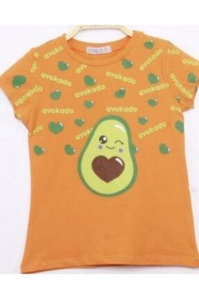 MinnakEller Avakado Baskılı Kız Çocuk T-shirt