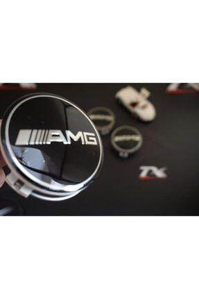 MERCEDES Benz Amg Jant Göbeği Kapağı 75mm