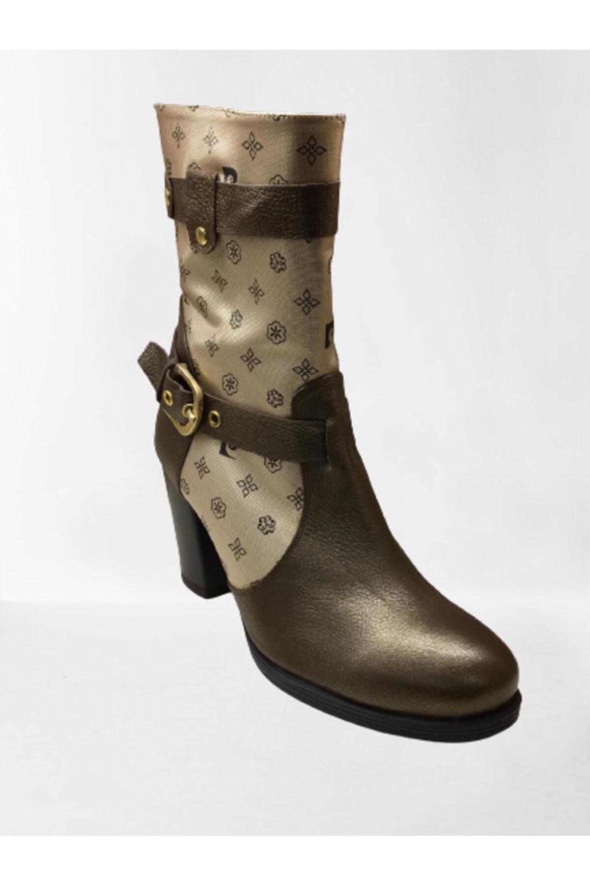 Pierre Cardin Kadın Kahverengi Gold Detaylı Kemerli  Çizme 2