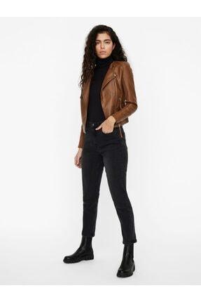 Vero Moda Kadın Kahverengi Suni Deri Ceket