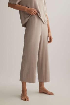 Oysho Kadın Vizon Puantiye Desenli Külot Pantolon