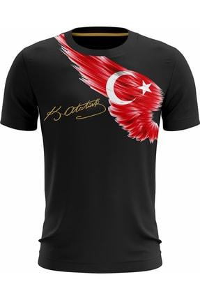 WINDSHIRE Mustafa Kemal Atatürk Tshirt Imza Bayrak