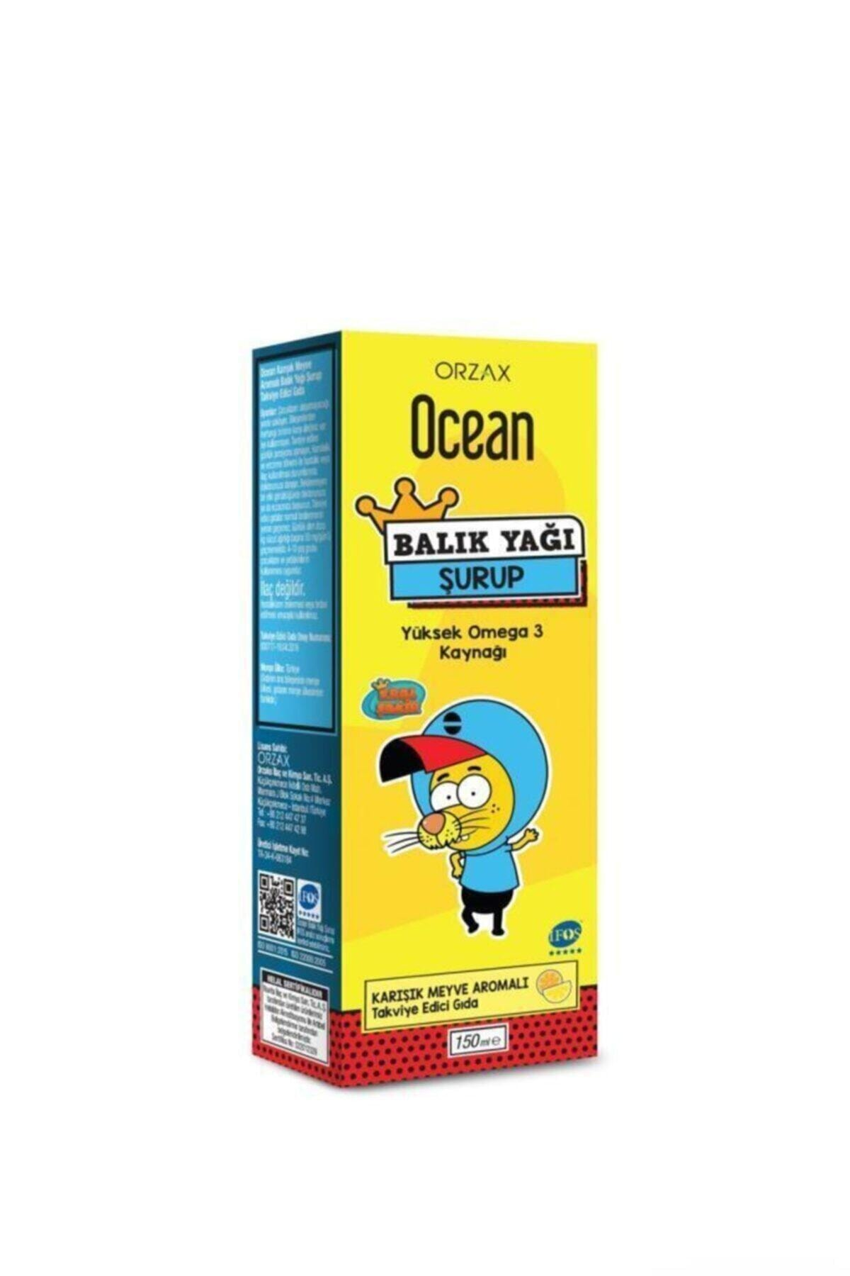 Orzax Ocean Omega 3 Karışık Meyveli Balık Yağı Şurubu Kral Şakir 150 ml 1