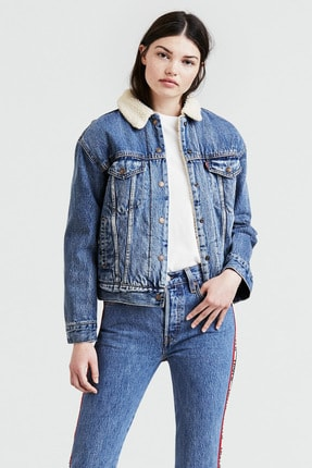 Levi's Kürklü Kadın Jeans Mont