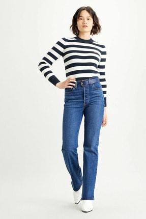 Levi's Kadın Mavi Boru Paça Pamuklu Yüksek Bel Slim Fit Rıbcage Jean 36934